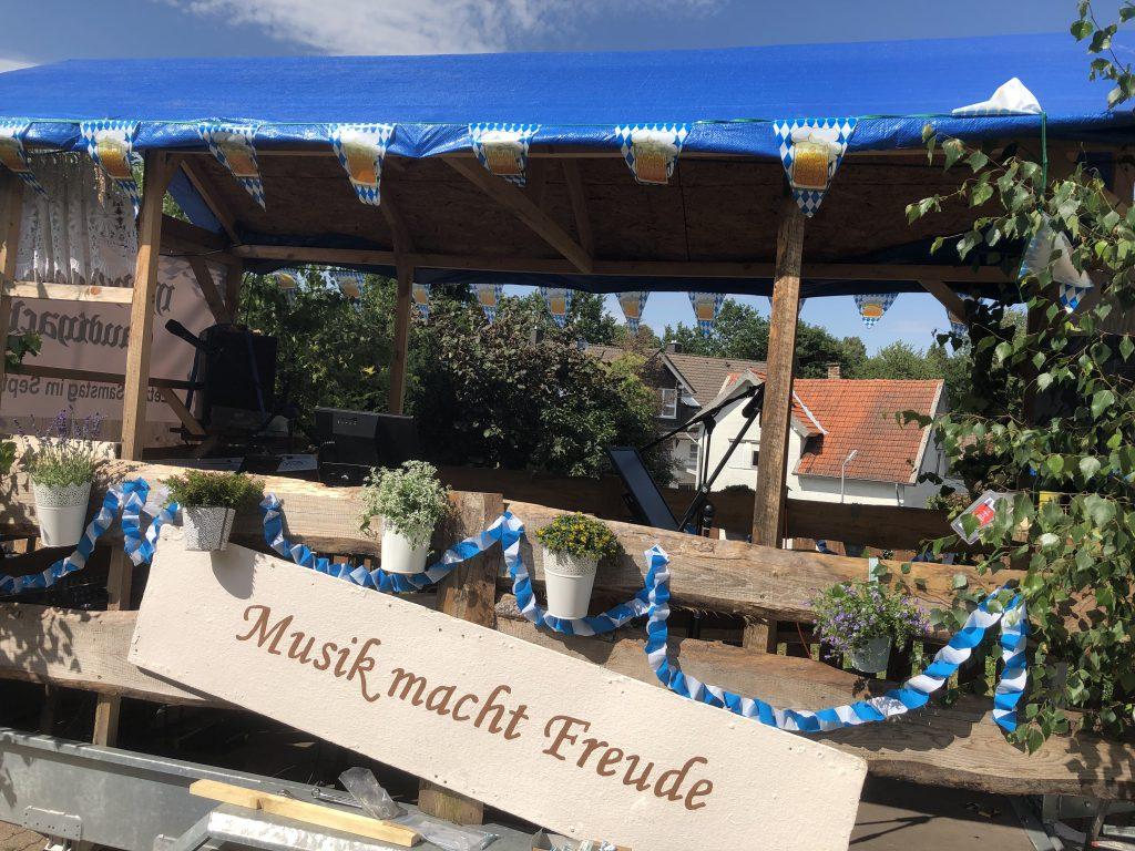 Auf dem Heimatfest in Wald-Michelbach hatten wir beim Umzug eine riesen Gaudi.